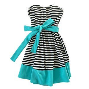 NWOT Striped Strapless Dress Small